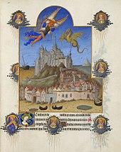 jusqu'au Mont Saint Michel dans Autre région 170px-Folio_195r_-_The_Mass_of_Saint_Michael