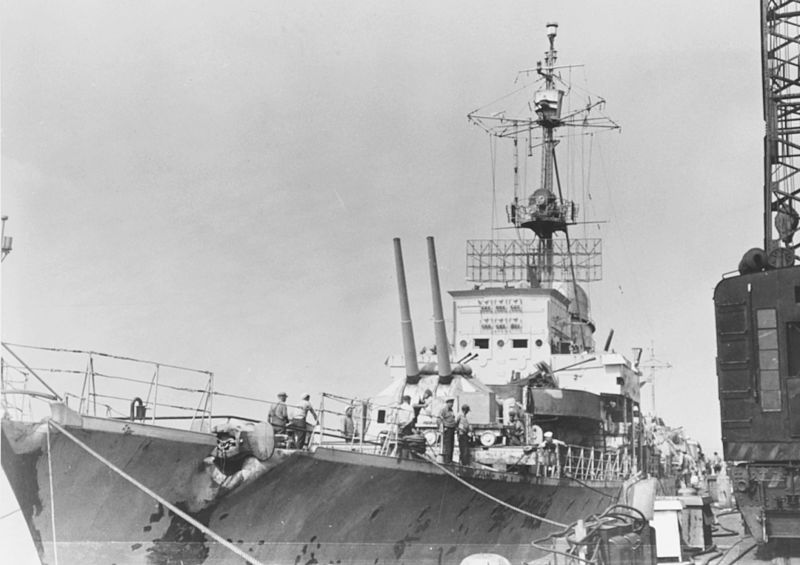 File:Forecastle of German destroyer Z39 at the Boston Navy Yard in August 1945.jpg