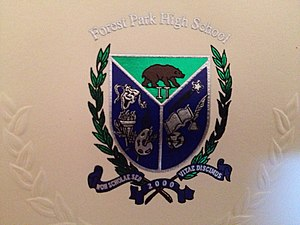 Forest Park High School (Montclair, Virginia) - Image: Forest Park High School (Virginia) crest