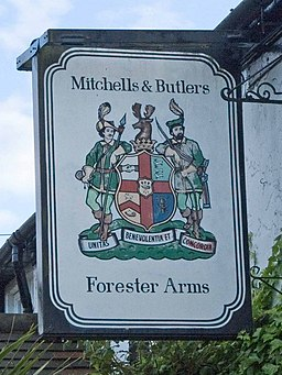 Forester Arms pub sign - geograph.org.uk - 905912