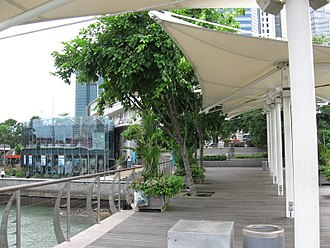 Waterboat House Garden - Another view of the Former Merlion Park, facing The Fullerton Waterboat House