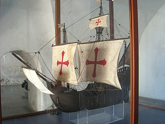 Santa María (ship) - Ship model at Fort San Cristóbal, San Juan, Puerto Rico