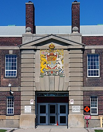 The Queen's York Rangers (1st American Regiment) (RCAC) - Image: Fort York Armoury Entrance