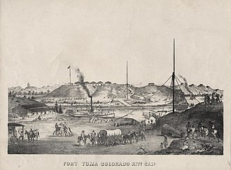 Yuma War - Fort Yuma in 1875.