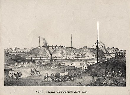 Fort Yuma, California, circa 1875 Fort Yuma California 1875.jpg