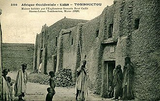 René Caillié - Postcard by Edmond Fortier showing the house where Caillié stayed in Timbuktu as it appeared in 1905–06
