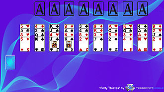 Napoleon at St Helena - Image: Forty Thieves (solitaire) Layout