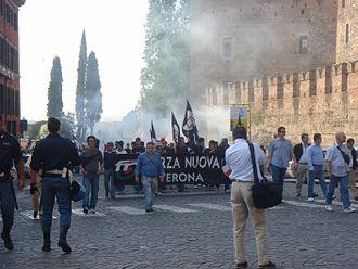 New Force (Italy) - Forza Nuova demonstration in Verona.
