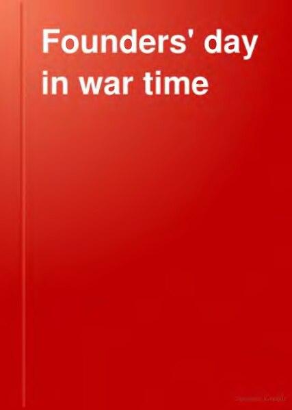 File:Founder's Day in War Time.djvu