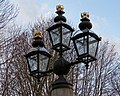 Fountain lanterns at the Old Royal Naval College, Greenwich, London.jpg