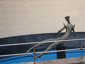 T. B. Huxley-Jones - A sculpture by Huxley-Jones outside Hornsey Library.