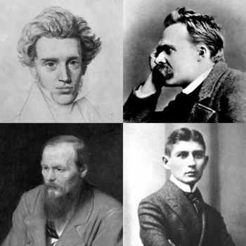 A collage of four precursors of Existentialism...