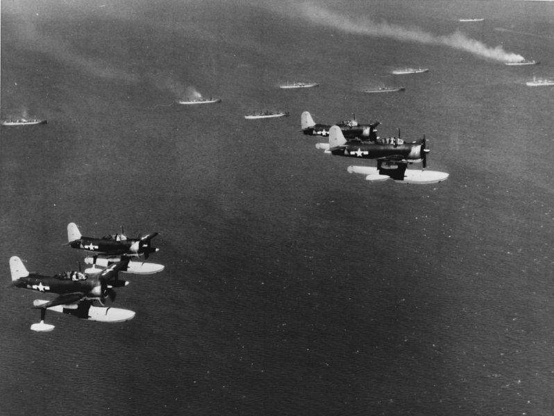 File:Four Curtiss SC-1 Seahawks in flight c1945.jpg
