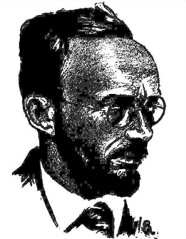 Fletcher Pratt, as pictured in the June 1929 issue of Science Wonder Stories