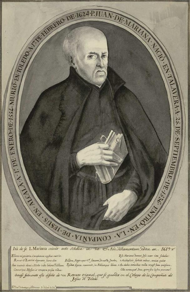 Francisco Javier de Santiago Palomares (1752) retrato de Juan de Mariana