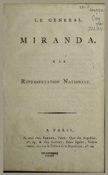 Le général Miranda à la représentation nationale