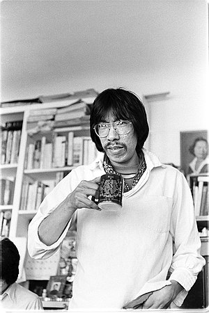 Frank Chin - Image: Frank Chin in his San Francisco apartment in 1975