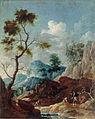 Franz Ignaz Flurer - Krajina z reko, ljudmi in živino na paši.jpg