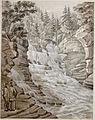 Franz Kurz zum Thurn und Goldenstein - Slap potočka, ki se zliva v reko Zalo pri Idriji.jpg