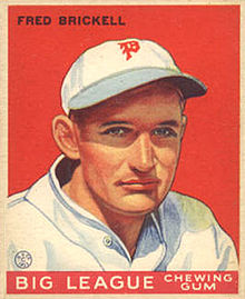 "A baseball-card image of a man in a white baseball jersey and cap; there is an Old English ""P"" on the face of the cap in red"