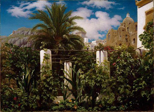 Frederic Leighton - Garden of an Inn, Capri - Google Art Project