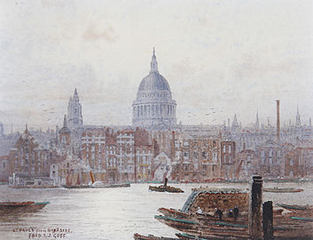 Frederick Edward Joseph Goff St Paul's from Bankside