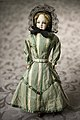 French Fashion Bisque Doll with Green and White Striped Dress.jpg