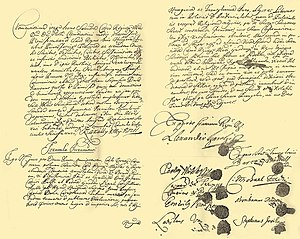 Treaty of Szatmár - Contractual document, Austrian National Archives