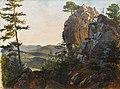 Friedrich Gauermann - Landschaft mit den Balbersteinen bei Miesenbach.jpg