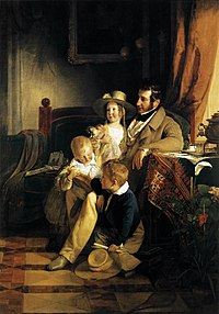 Friedrich von Amerling - Rudolf von Arthaber with his Children - WGA00262.jpg