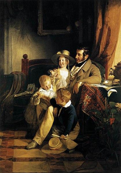 File:Friedrich von Amerling - Rudolf von Arthaber with his Children - WGA00262.jpg