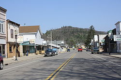 Looking north in downtown Friendship on WIS 13