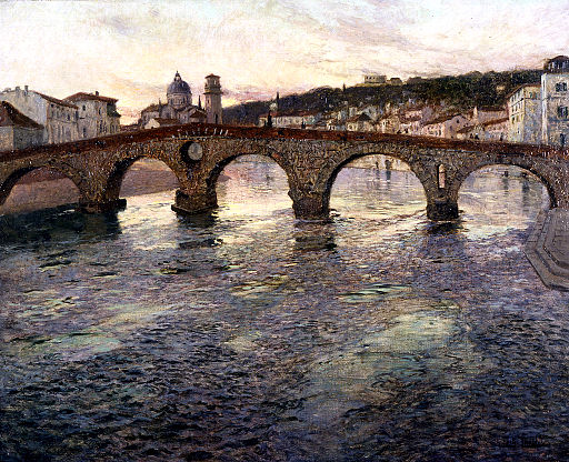 Frits Thaulow - The Adige River at Verona - Walters 3797