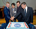 From left, U.S. Air Force Lt. Gen. Jeffrey Remington, the United Nations Command Korea deputy commander; Yasuhiro Kobe, with the Ministry of Foreign Affairs of Japan, North American Affairs bureau; British 111129-F-ZZ855-035.jpg