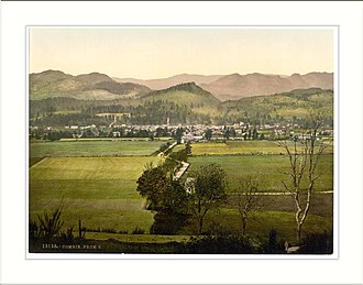 Comrie - Old image of Comrie from the south