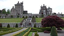 Front elevations of the old and the new at Drummond Castle - geograph.org.uk - 1585221.jpg