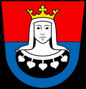 Heads in heraldry - Image: Fuerststift Kempten coat of arms