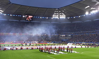2010 UEFA Europa League Final - The opening ceremony took place immediately before the teams emerged.
