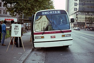 Rapid Transit Series - GMC RTS II pre-production model testing in Oakland, October 1976.