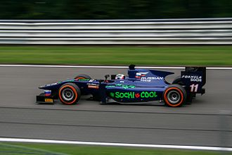 Sam Bird - Bird during the feature race at the Belgian round of the 2013 GP2 Series