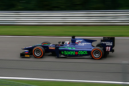 Sam Bird at Feature Race in Spa-Francorchamps 2013