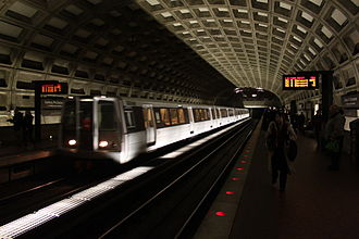 Washington Metro - PIDS signs at the Gallery Place station