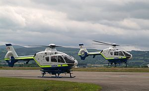 Garda Síochána - The two helicopters of the Garda Air Support Unit