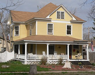 National Register of Historic Places listings in Finney County, Kansas - Image: Garden City KS 901 N 7 St from SE 1
