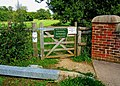 Gate entrance to permissive footpath alongside Wey and Arun Canal - geograph.org.uk - 1440642.jpg