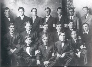 History of Florida Gators football - 1907 UF football team; Forsythe is second from left in the center row, and Shands is bottom right.