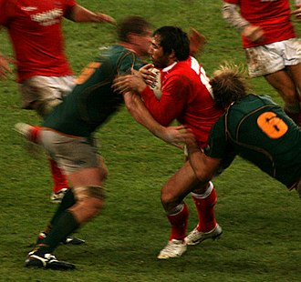 Gavin Henson - Henson in action for Wales