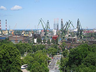 Gdańsk Shipyard - A view of the shipyard in 2009