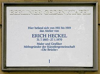 Erich Heckel - Plaque commemorating Heckel in Berlin