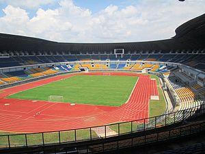 Persib Bandung - Gelora Bandung Lautan Api Stadium  under construction in 2013.